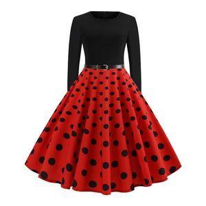 [SUCREFAS] Polka Dot Fit & Flare Dress